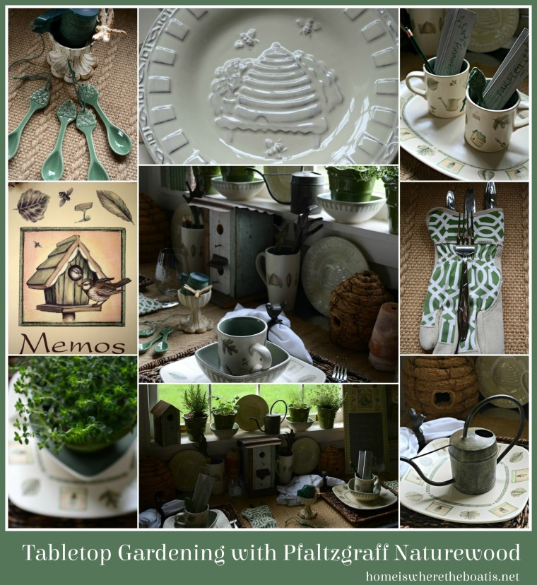 Tabletop Gardening with Pfaltzgraff Naturewood