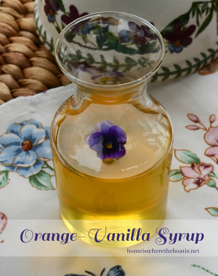 Orange-Vanilla Simple Syrup
