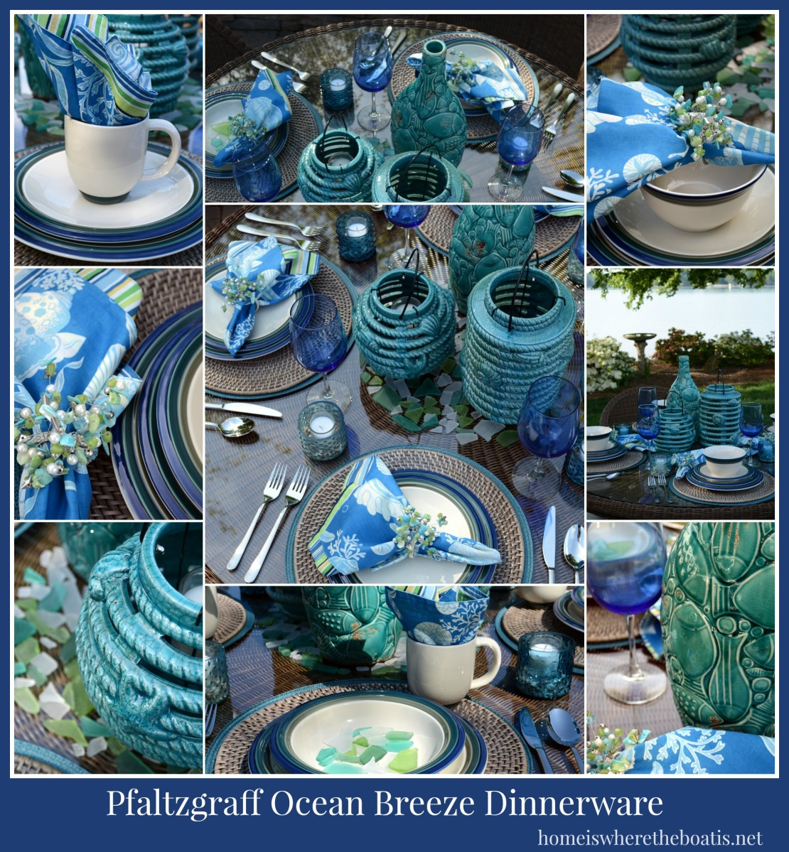 At The Table Pfaltzgraff Ocean Breeze Home Is Where The Boat Is