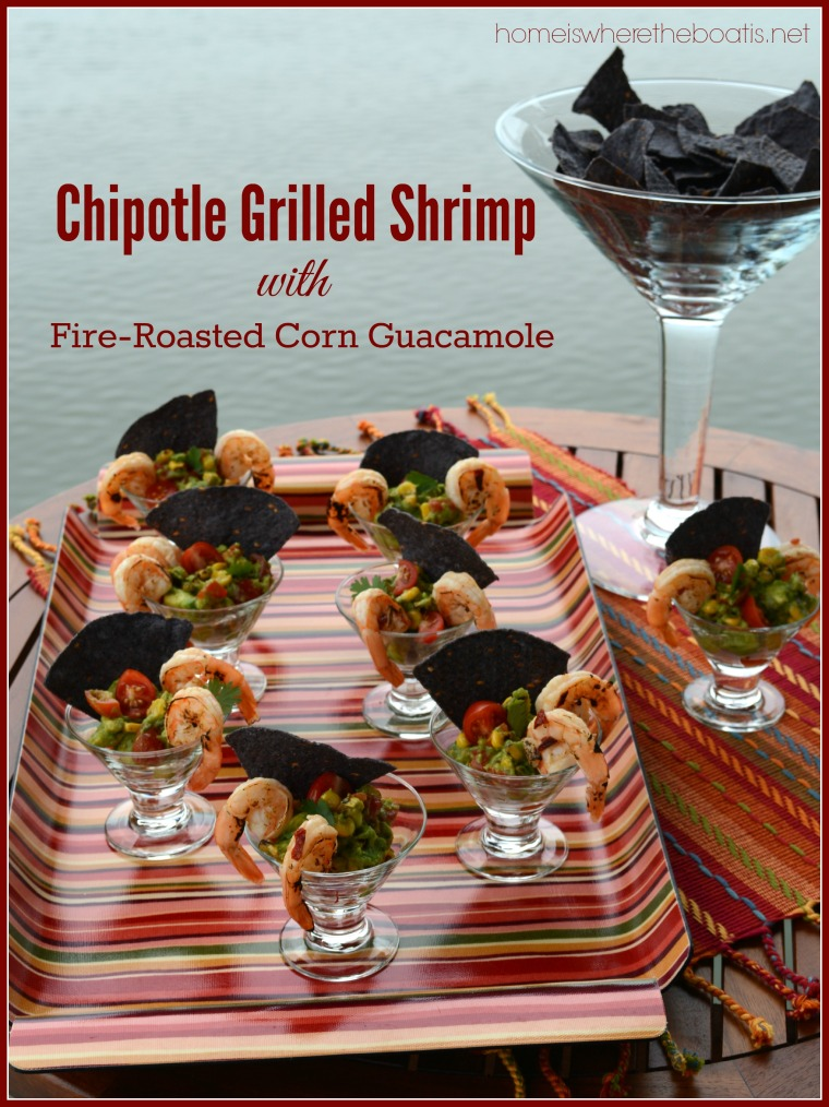 Chipotle Grilled Shrimp with Fire-Roasted Corn Guacamole