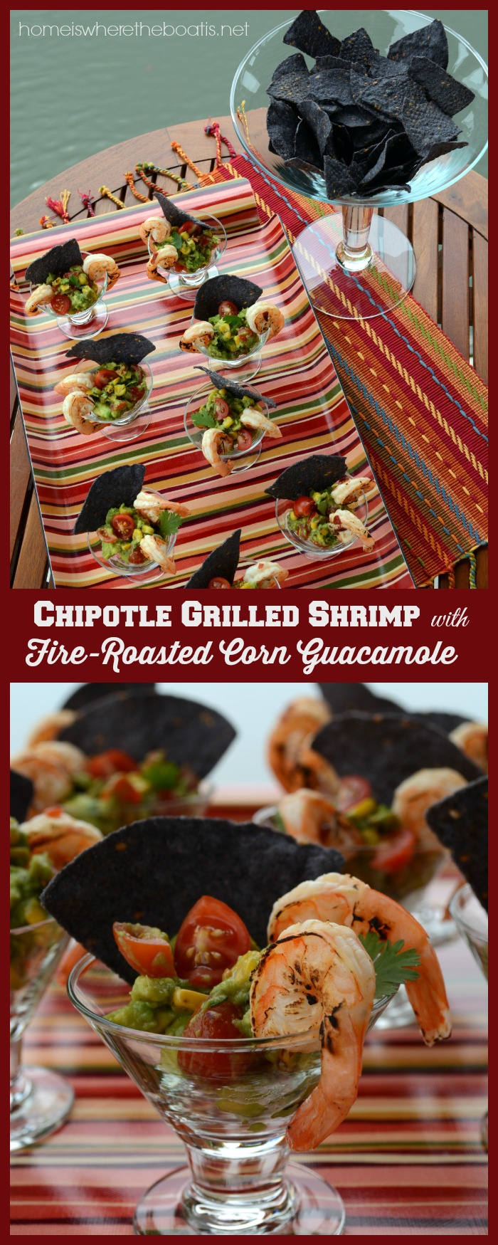 Chipotle Grilled Shrimp with Fire Roasted Corn Guacamole