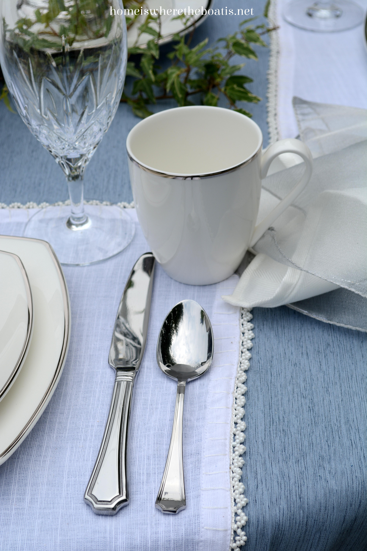 Tying The Knot Mikasa Cameo Platinum Dinnerware Home Is