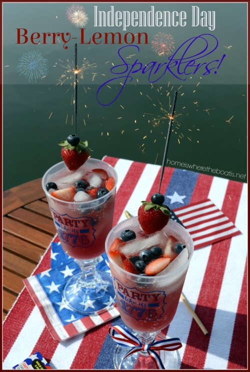 Independence Day Berry-Lemon Sparklers!