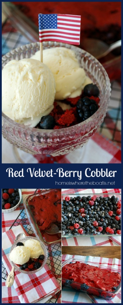 Red Velvet-Berry Cobbler