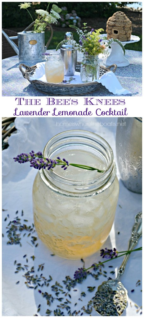 The Bee's Knees Lavender Lemonade Cocktail
