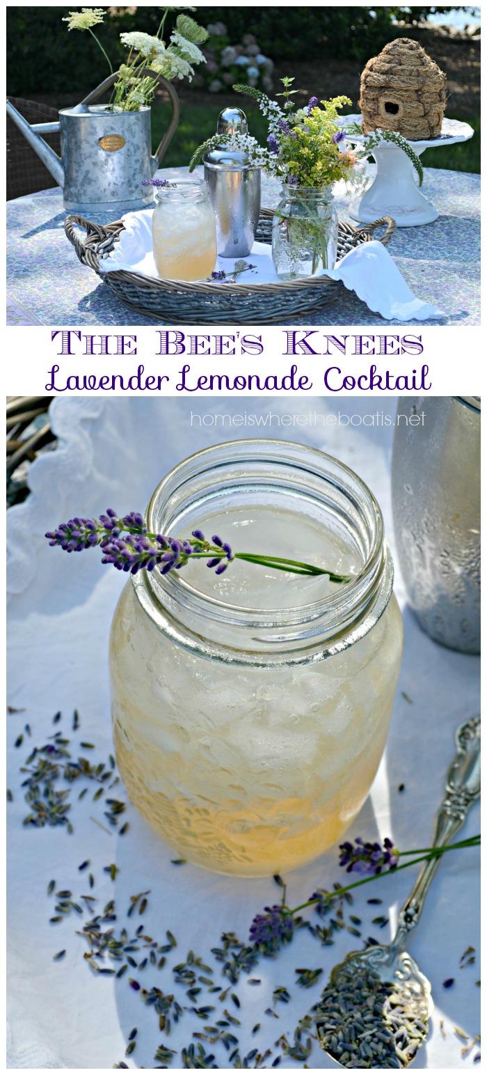 The Bee's Knees Lavender Lemonade Cocktail