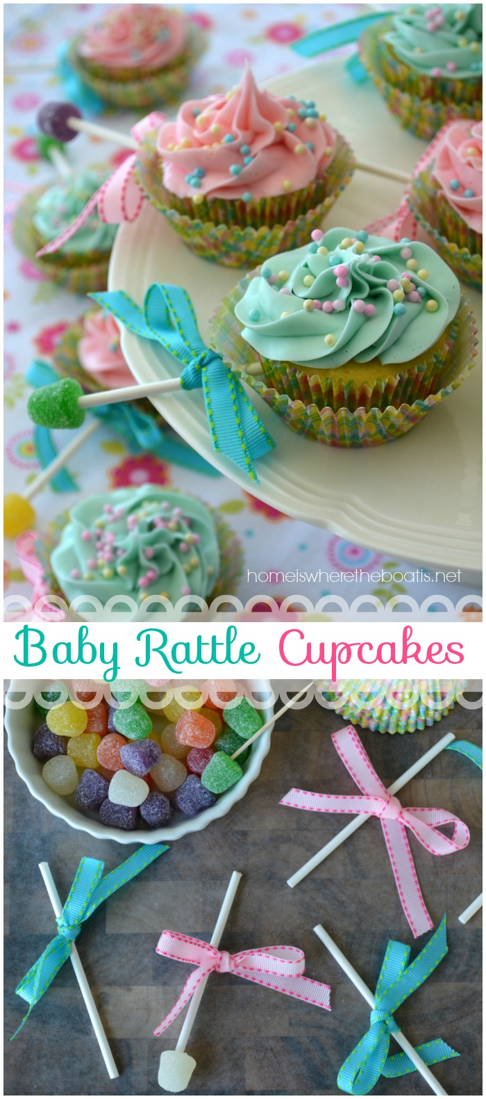Baby Rattle Cupcakes Home Is Where The Boat Is