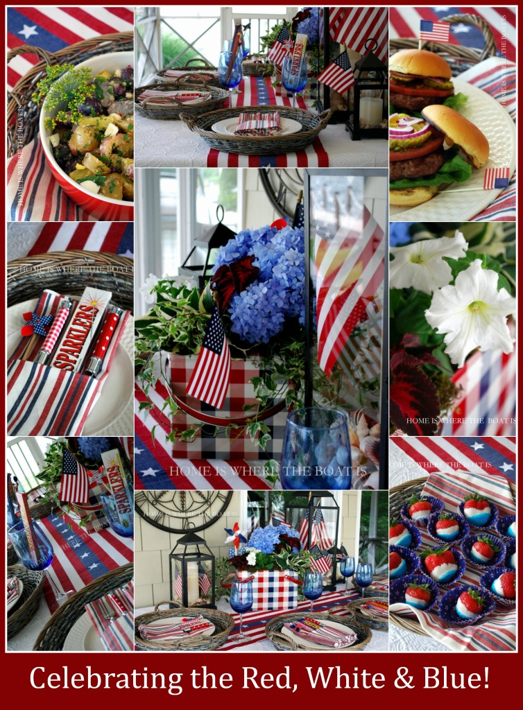 Celebrating the Red, White & Blue Patriotic Table