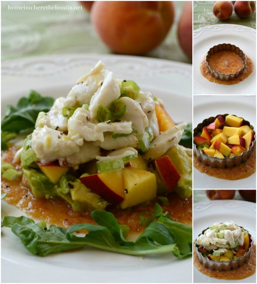 Peach and Avocado Crab Salad
