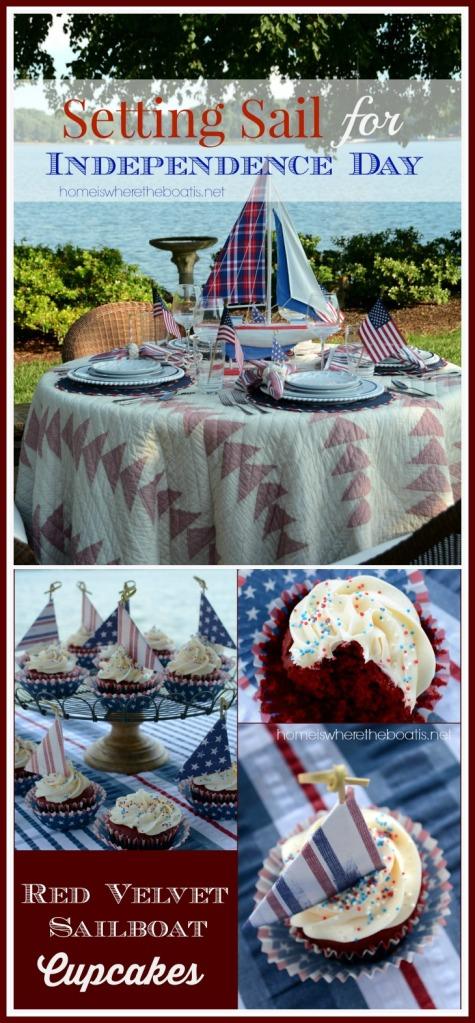 Setting Sail for Independence Day with a Regatta of Red Velvet Cupcakes!