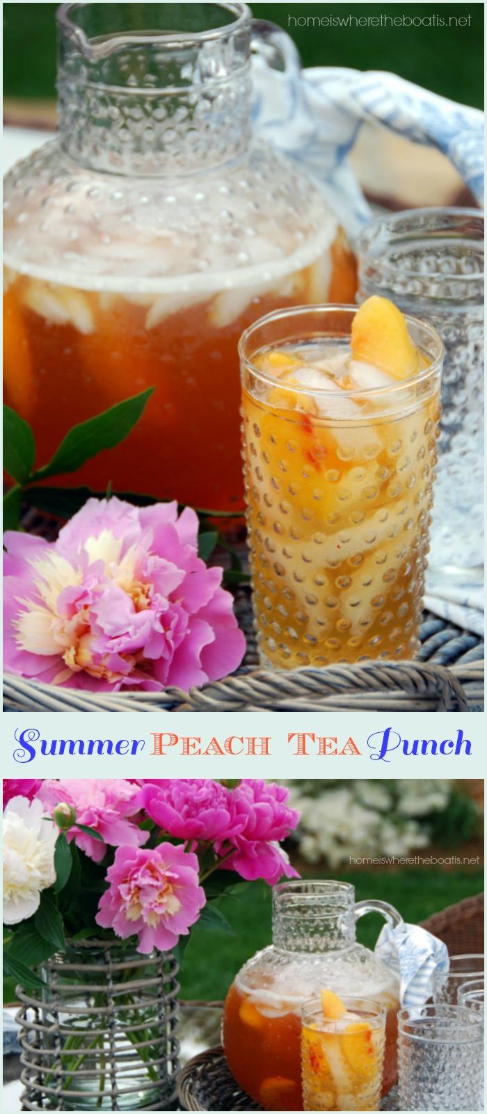 Summer Peach Iced Tea Punch