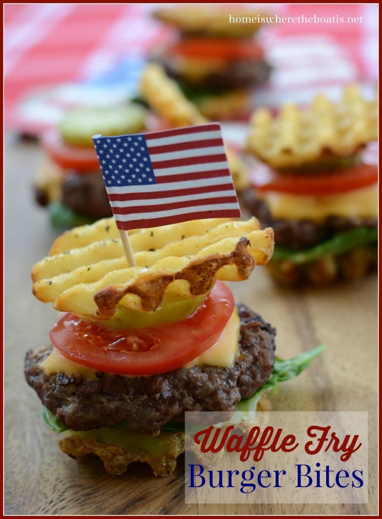 Waffle Fry Burger Bites
