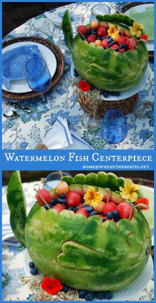 Watermelon Fish Centerpiece