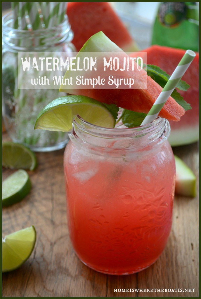 Watermelon Mojito with Mint Simple Syrup