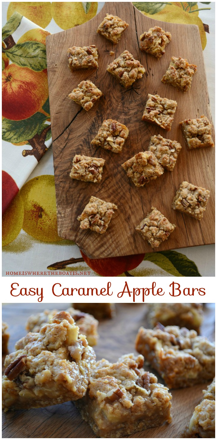 Easy Caramel Apple Bars! | Home is Where the Boat Is