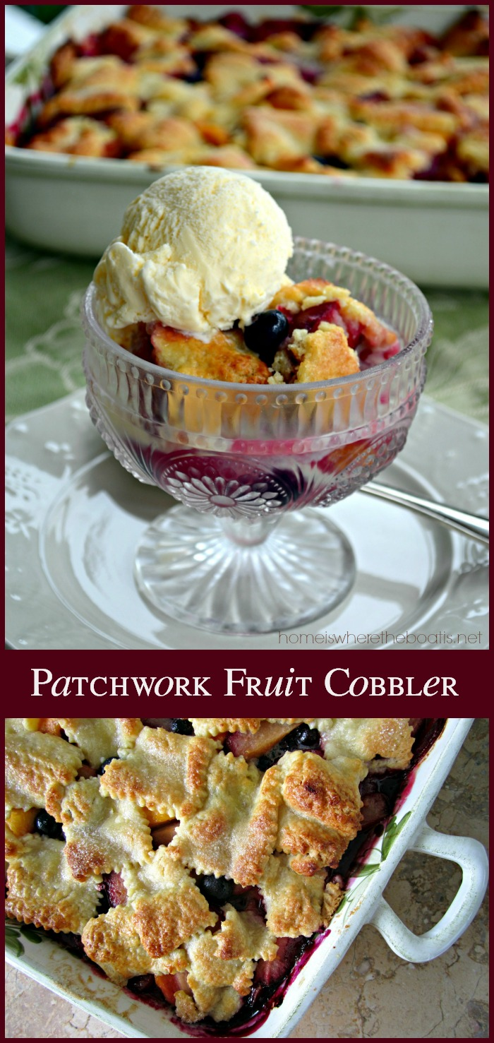Patchwork Fruit Cobbler
