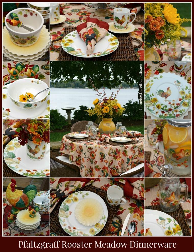 Pfaltzgraff Rooster Meadow Dinnerware