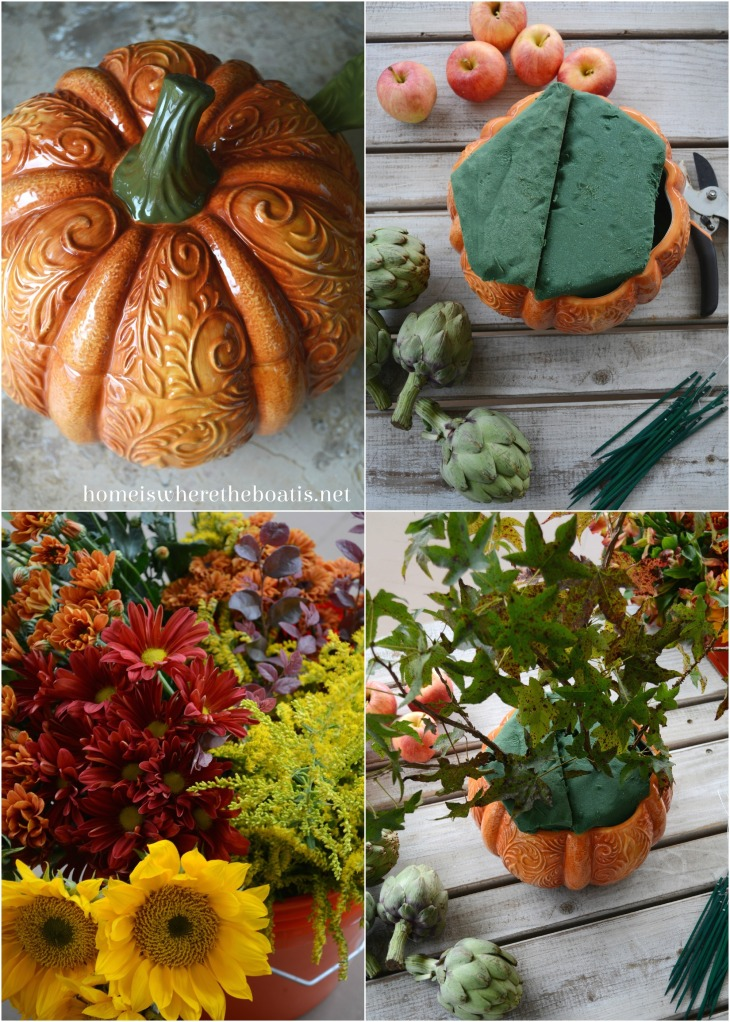Pumpkin Tureen Vase Centerpiece DIY