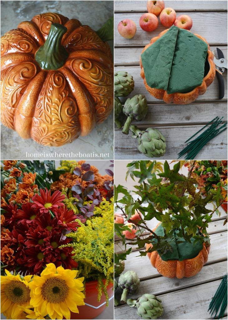 Pumpkin Tureen Vase Centerpiece DIY