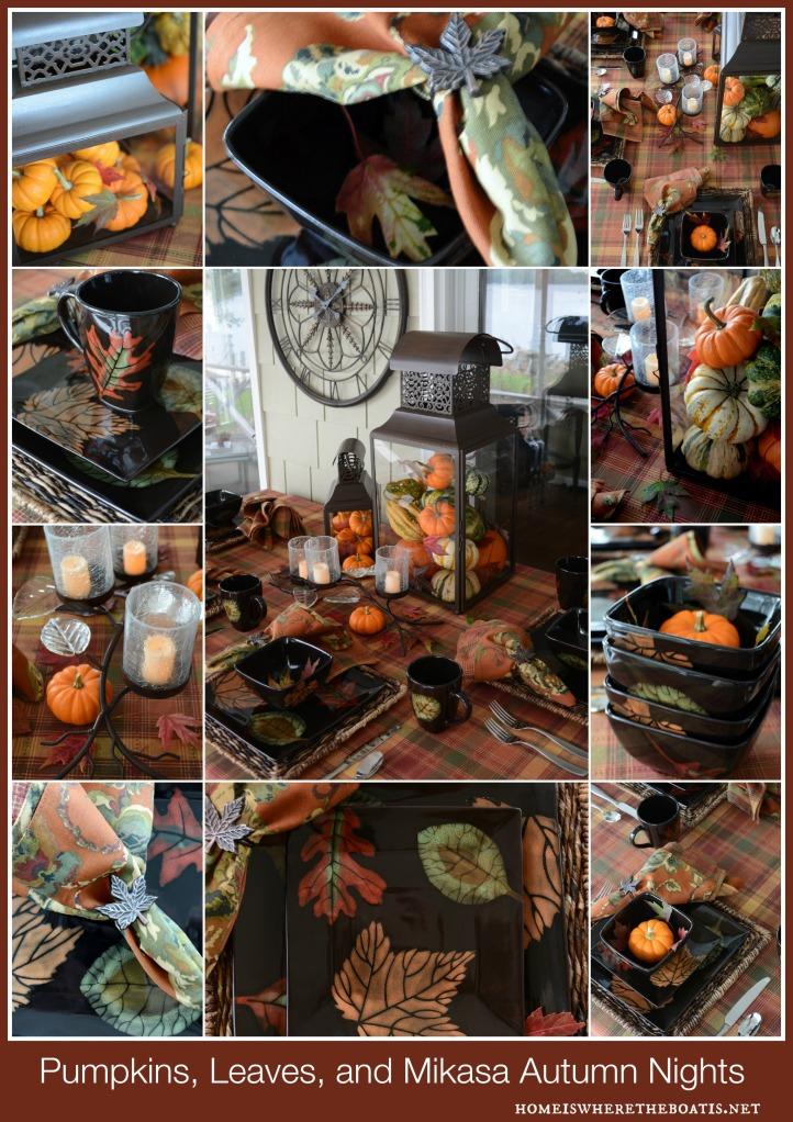 Pumpkins, Leaves and Mikasa Autumn Nights
