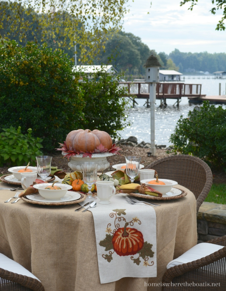 A Fall Table With Pumpkins Home Is Where The Boat Is