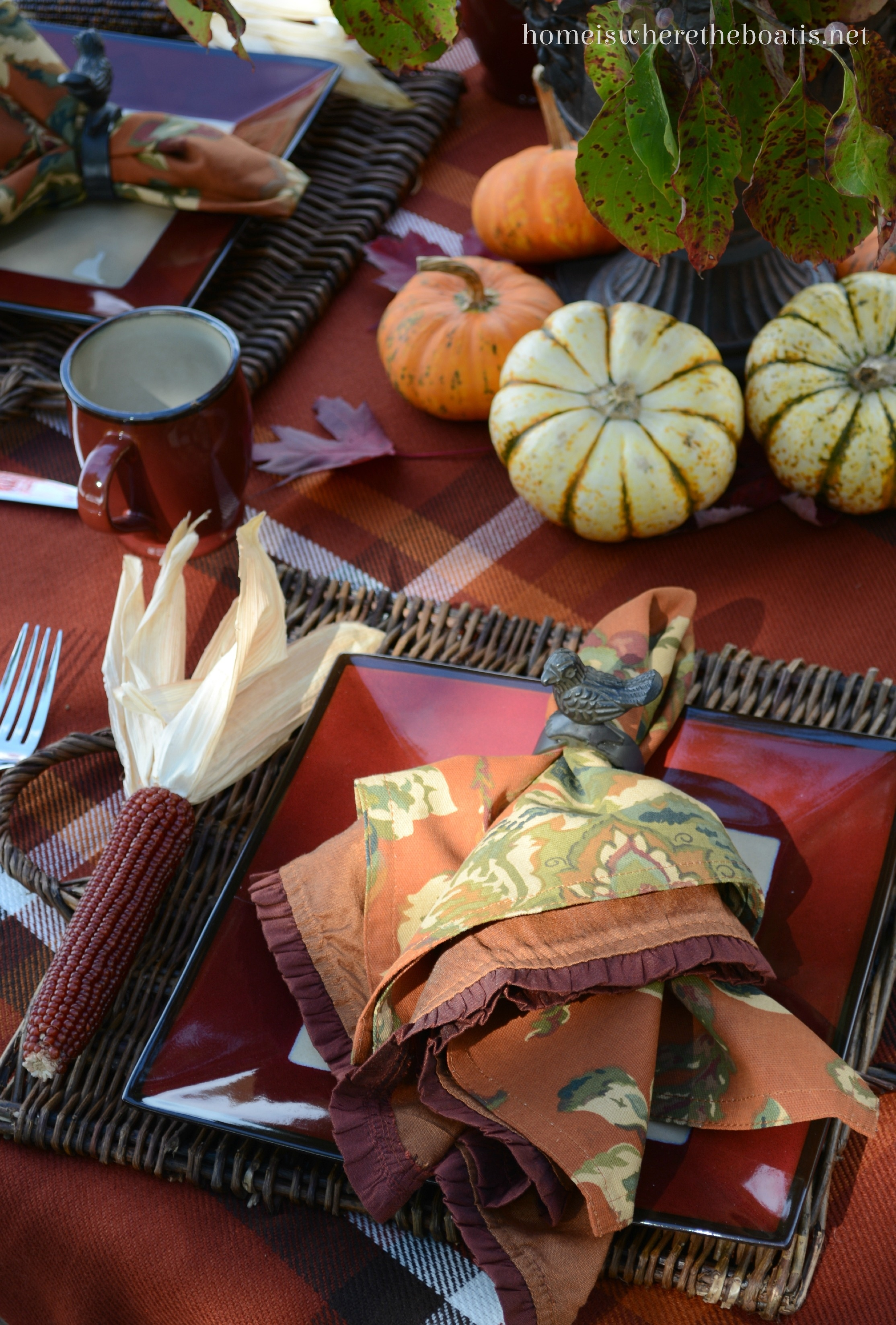 A Delicious Autumn Table With Mikasa Belmont Red Home Is Where The Boat Is