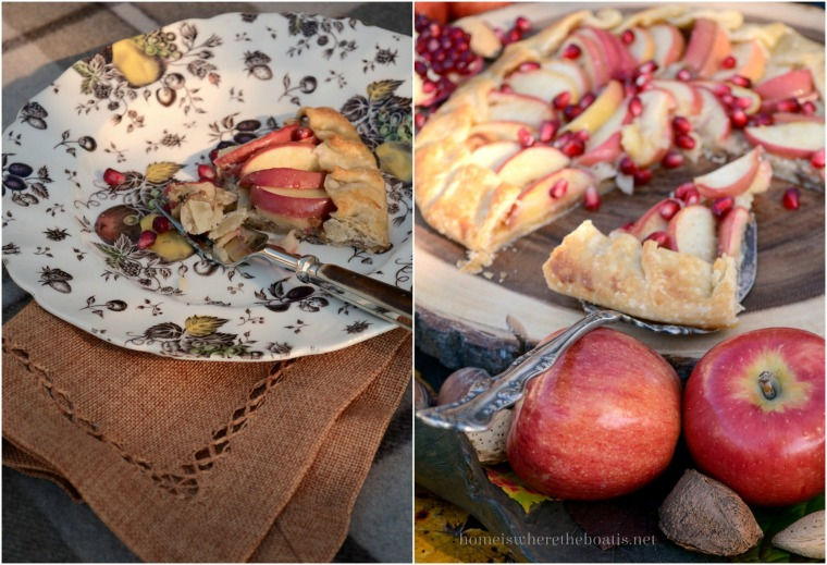 Apple & Honey Galette with Pomegranate Seeds