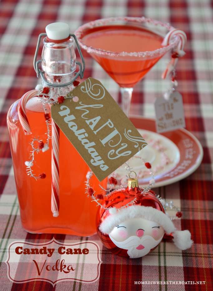 Candy Cane-infused Vodka! Ready to gift or sip in 3 hours! | homeiswheretheboatis.net #cocktail