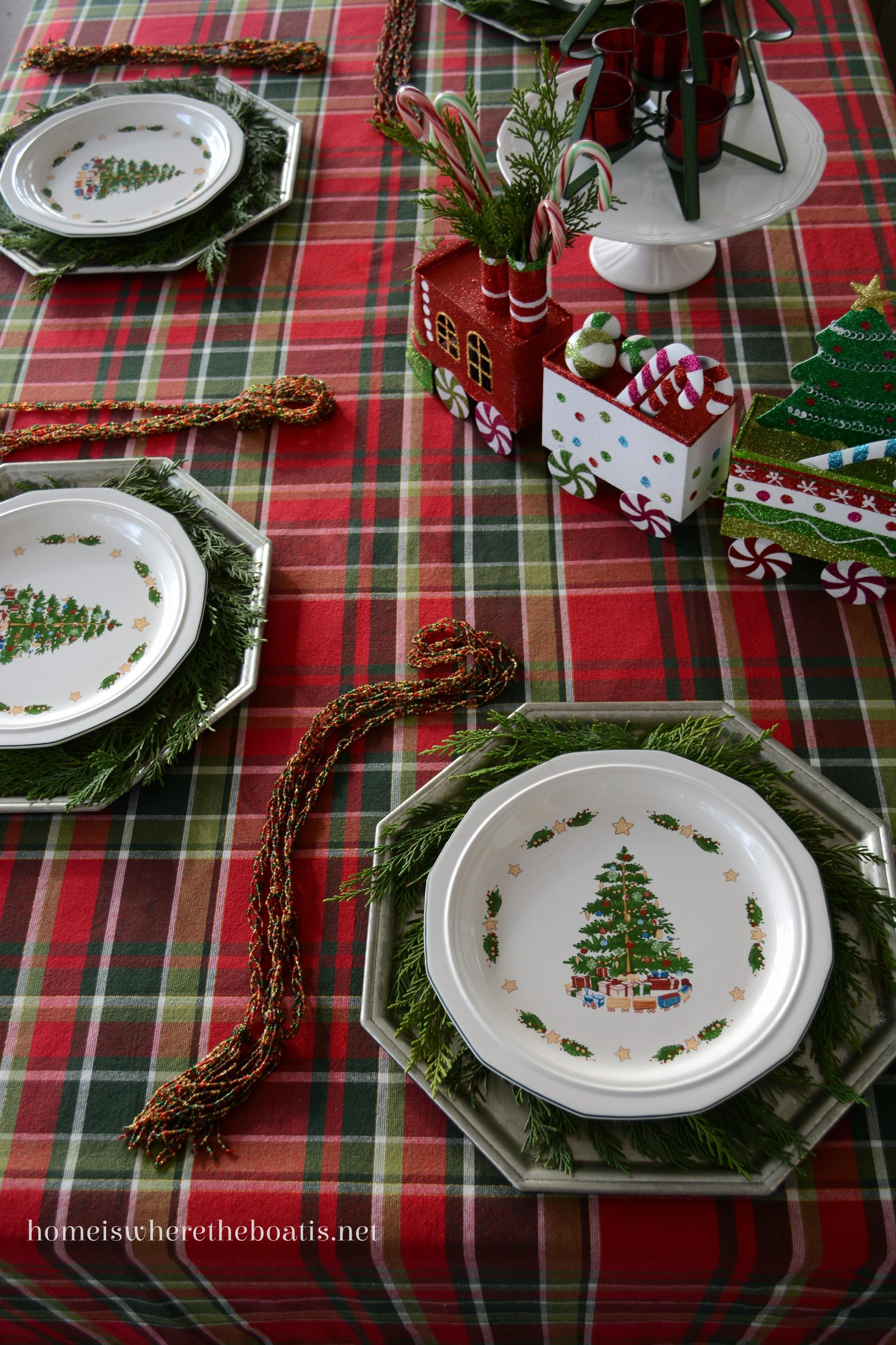 Christmas Cheer: Trains, Candy Canes, Plaid and Pfaltzgraff ...
