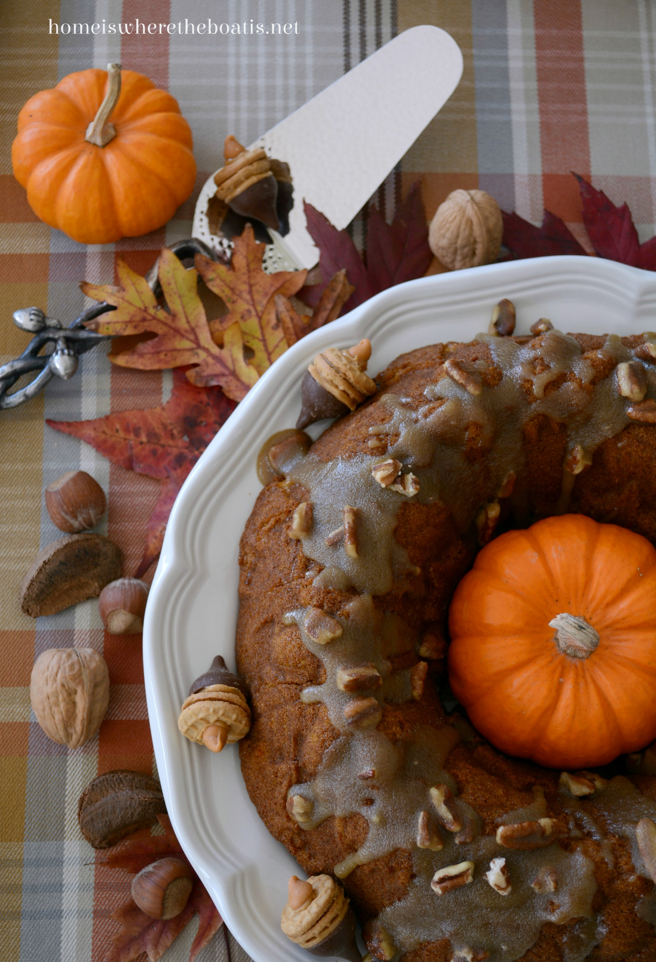 pumpkin chocolate harvest cake with bourbon pecan glaze cake ...