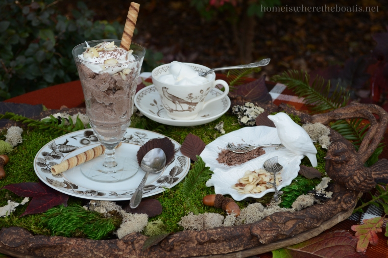 The Forest Feast and Chocolate Ricotta Mousse | ©homeiswheretheboatis.net #chocolate #easy #desserts #nobake