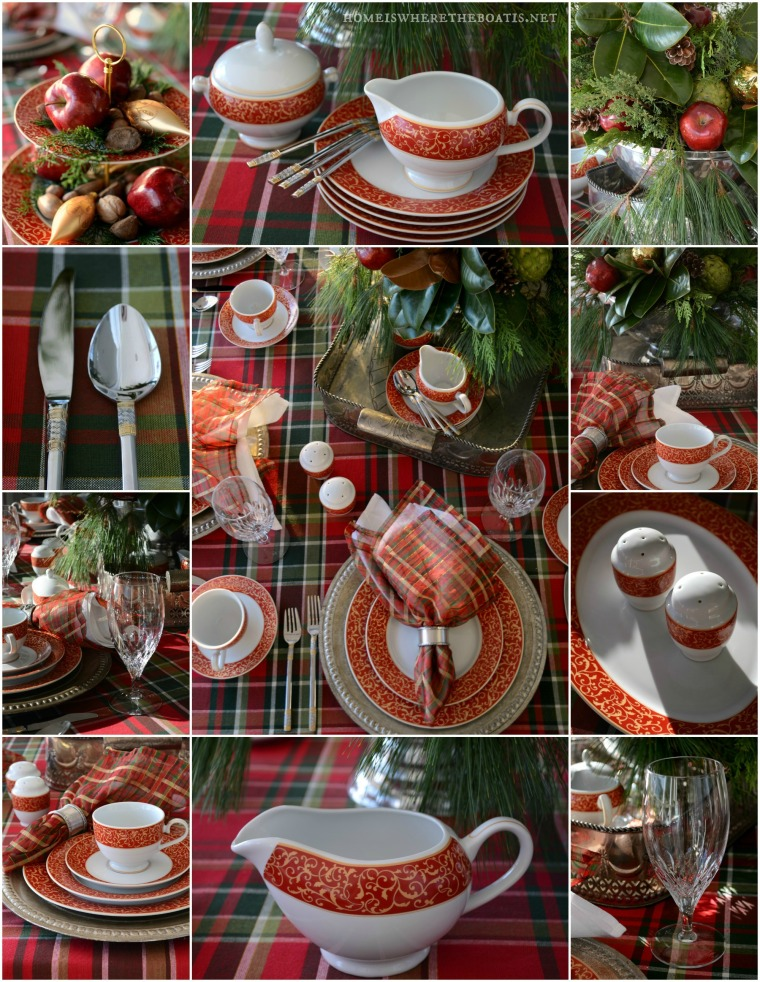 Mikasa Parchment Rouge Christmas Table