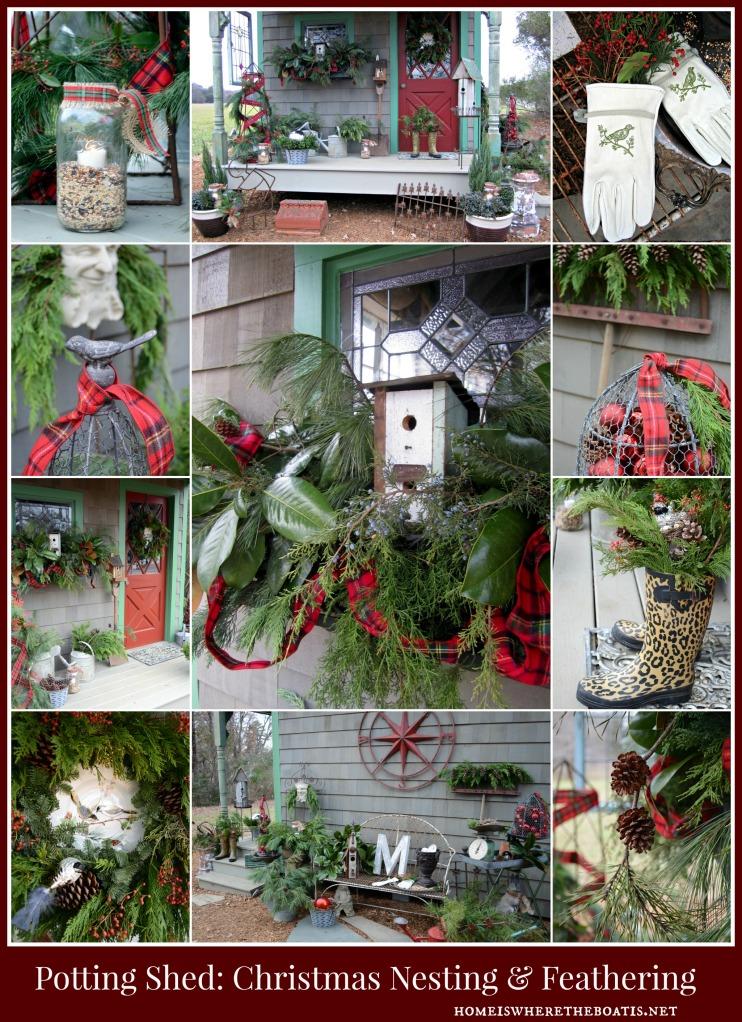 Potting Shed Christmas Nesting & Feathering