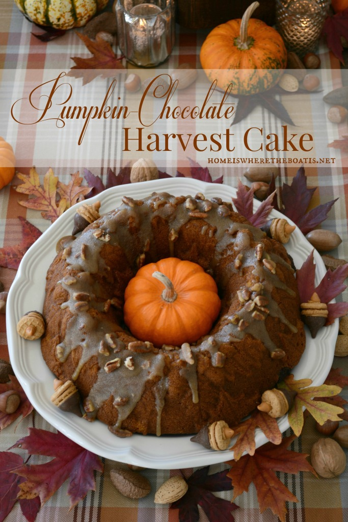 Pumpkin Chocolate Harvest Bundt Cake