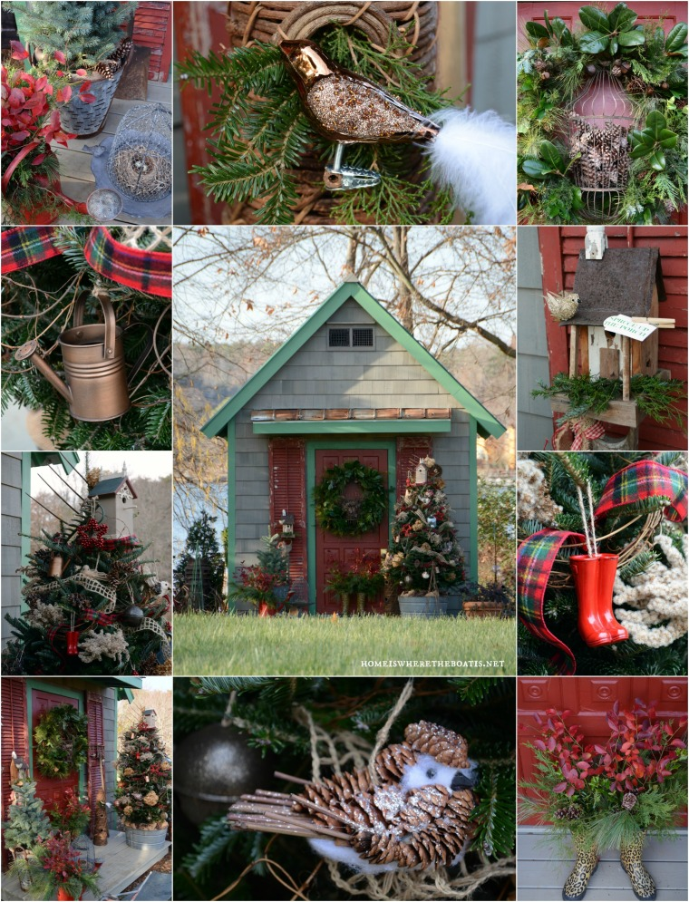 Christmas Sprucing of the Potting Shed