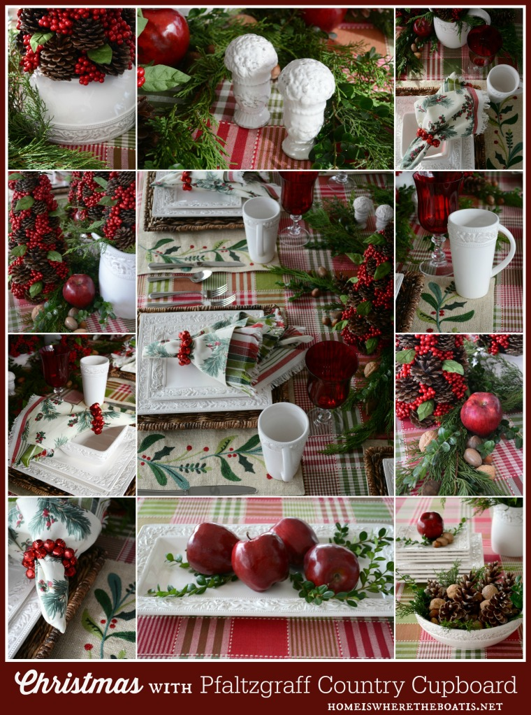 Christmas with Pfaltzgraff Country Cupboard Dinnerware