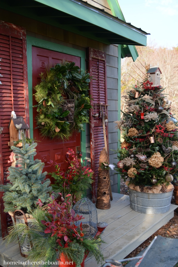 Potting Shed: Christmas Sprucing of the Porch – Home is ...