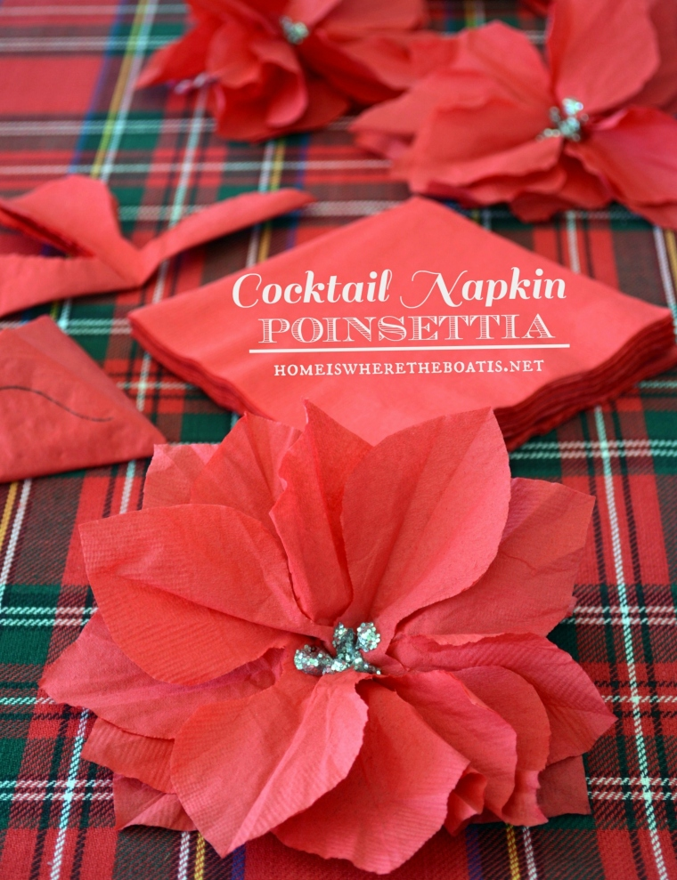 From Cocktail Napkin to Poinsettia