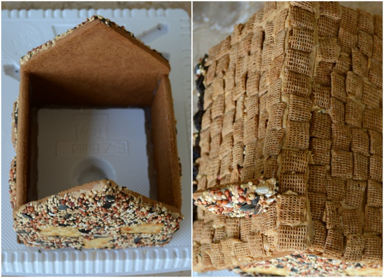 Gingerbread House Kit Bird Feeder