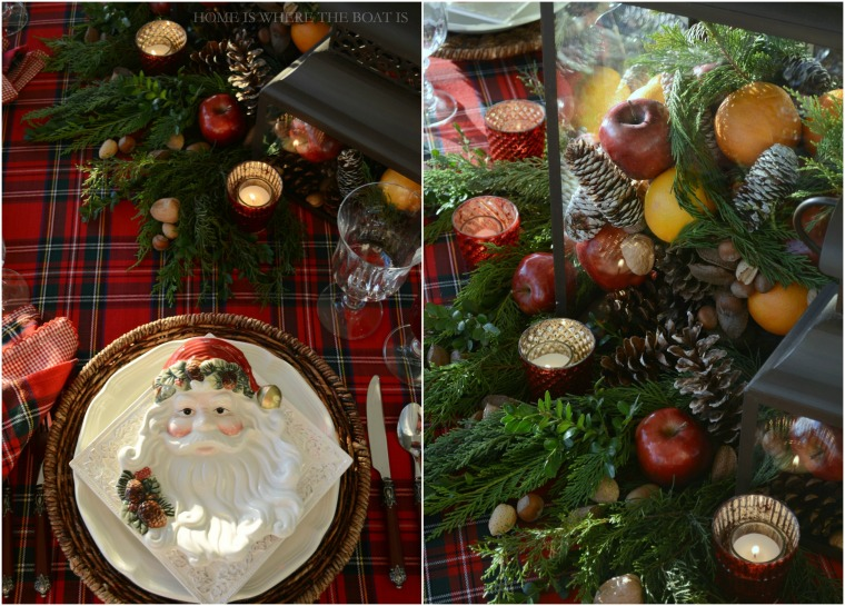 Santa Tartan Christmas Table