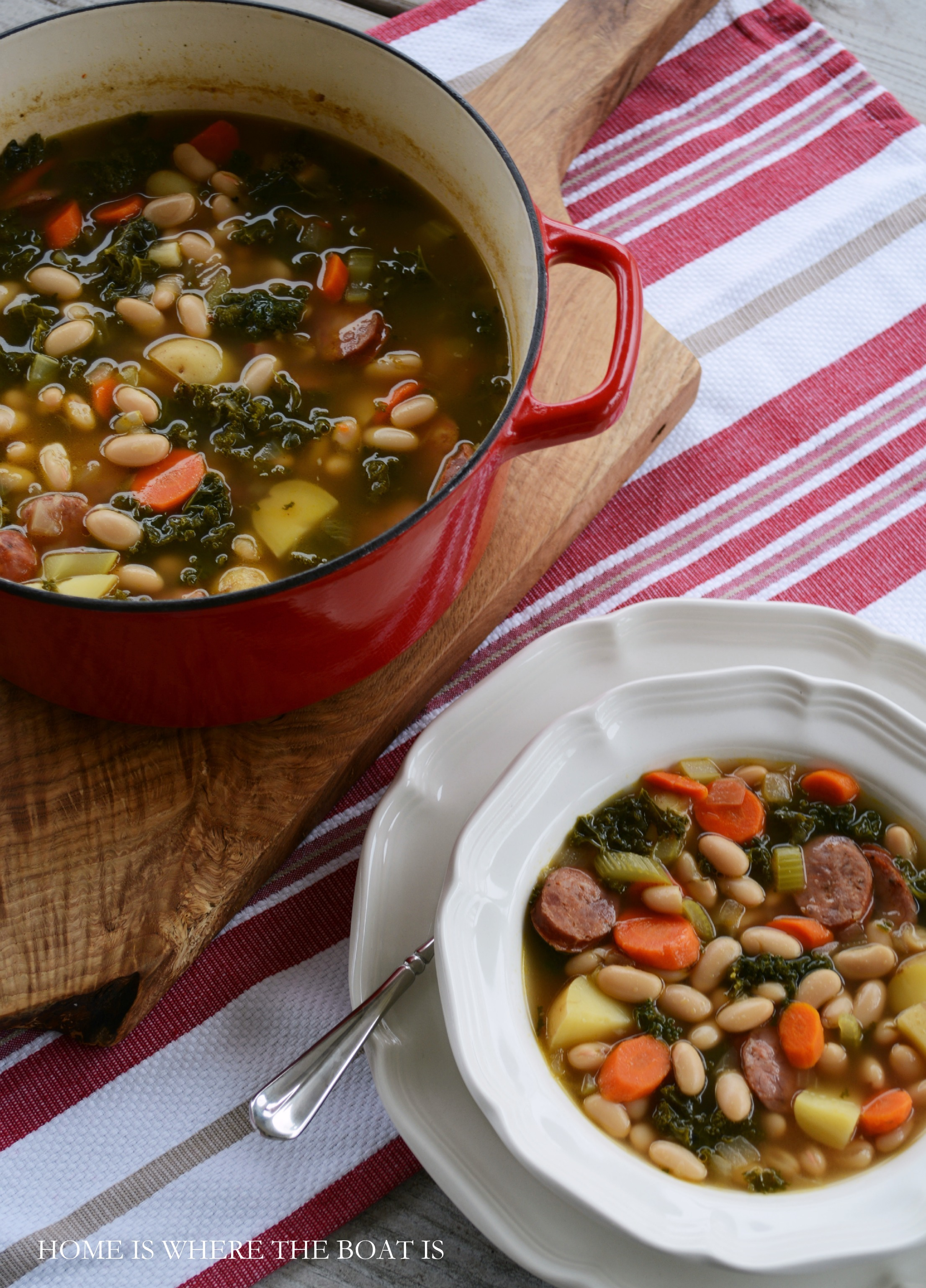 A Hearty Winter SoupSausage, Kale and White Bean SoupHome is