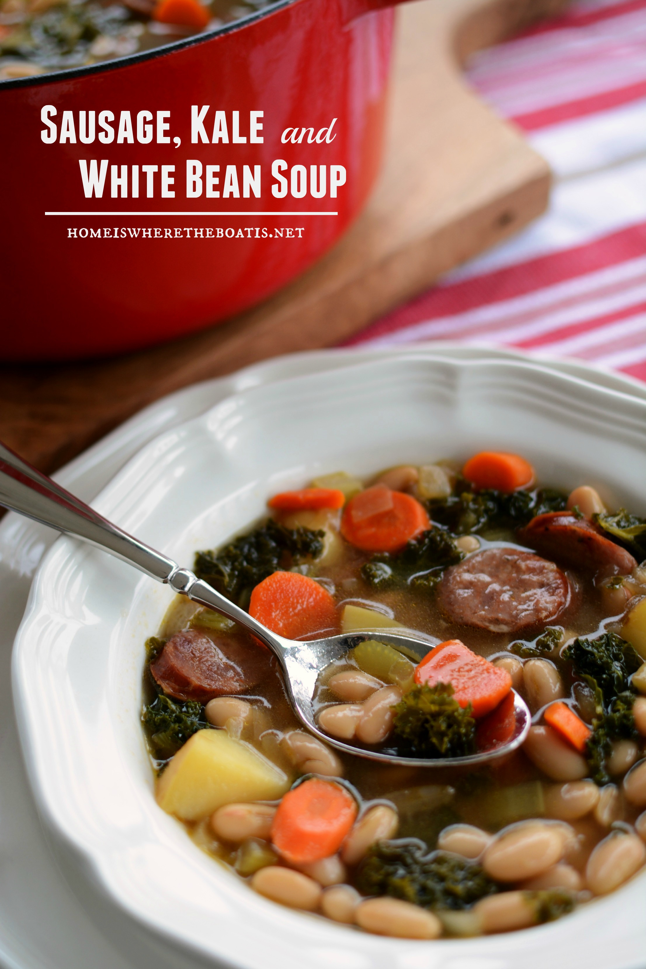Turkey Sausage, Kale And White Bean Soup Recipe — Dishmaps