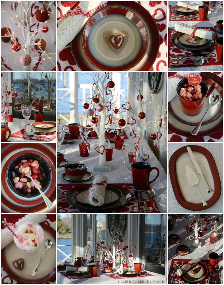 Valentine's Day Table with Pfaltzgraff Aria