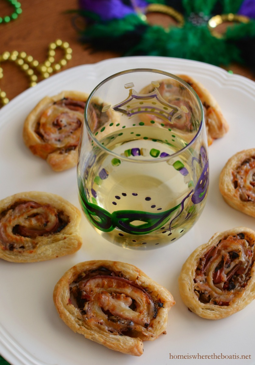 Let the Good Flavors Roll: Muffuletta Puff Pastry Pinwheels!