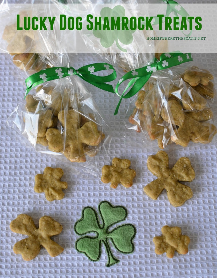 Lucky Dog Shamrock Treats