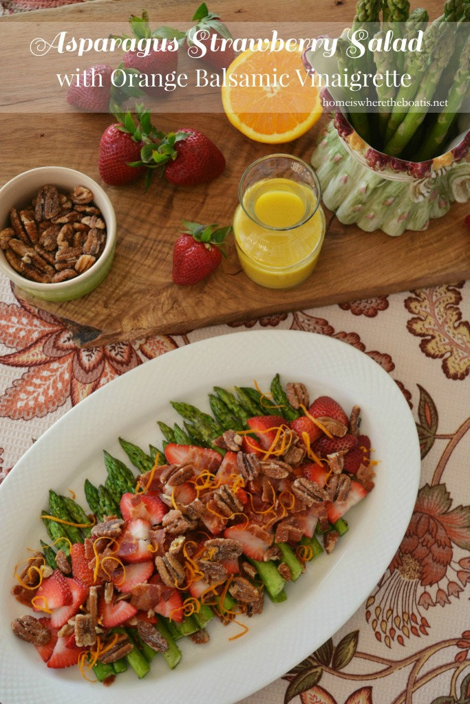 Asparagus Strawberry Salad with Orange Balsamic Vinaigrette banner