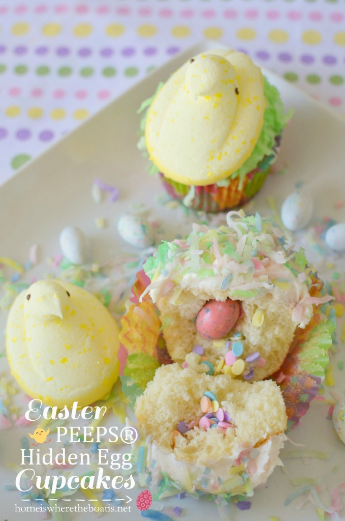Easter PEEPS® Hidden Egg Cupcakes