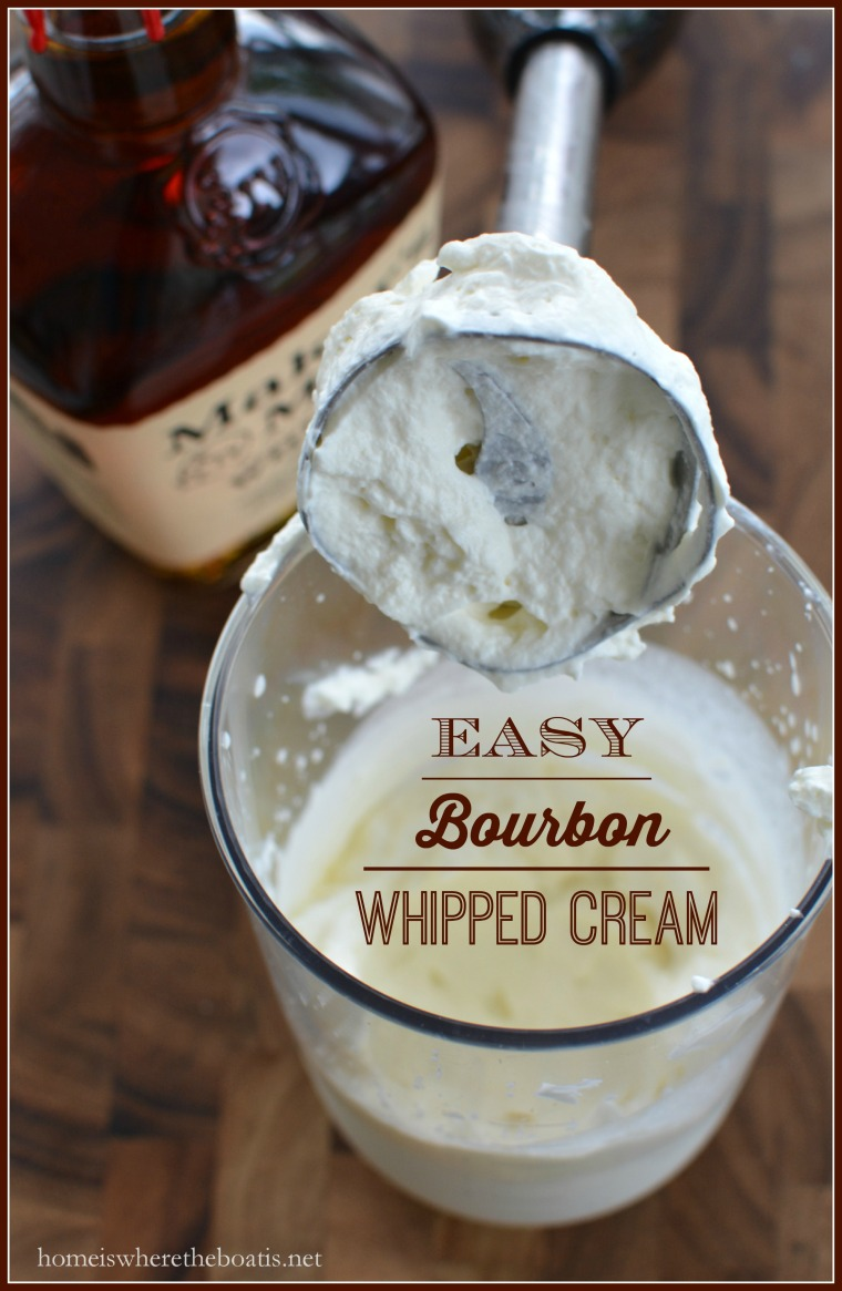 easy bourbon whipped cream border