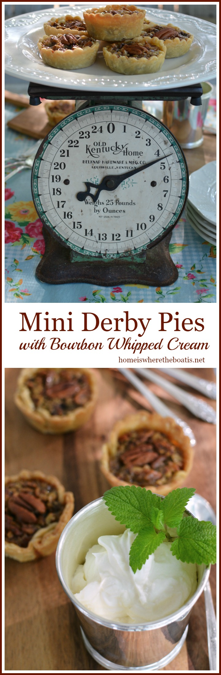 Mini Derby Pies with Bourbon Whipped Cream | homeiswheretheboatis.net ...