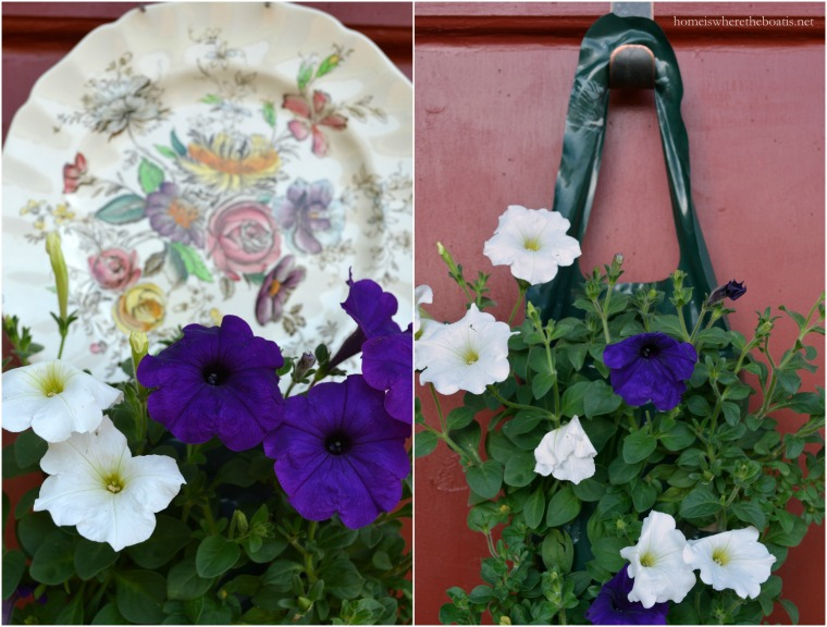 Al's flower pouch with petunias